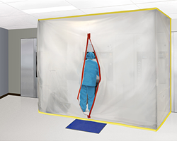 STERIS dust barrier in healthcare facility