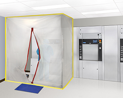 Airtight installation in any room or space for complete dust containment.