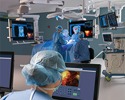 Surgery monitors in operating room
