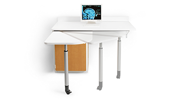 Clinically inspired, the Swivel nurse documentation station moves when you need it most.