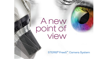 Reposition the OR camera easily around the patient with the STERIS FREE5™ Camera System