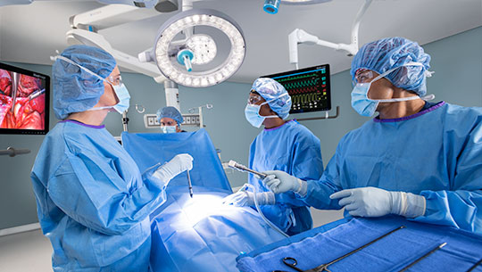 Operating Room of the future, surgeon working conditions