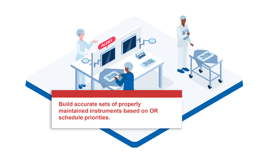Build accurate sets of proerly maintained instruments based on OR schedule priorities