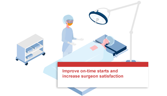 Improve on-time starts and increase surgeon satisfaction.