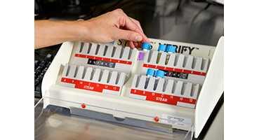 VERIFY Incubators range from 6 wells to 28 wells for your biological indicator incubation needs.