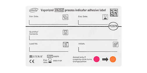 VERIFY Vaporized VH2O2 Process Indicator Adhesive label