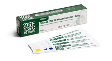 VERIFY SixCess Steam 275°F 10 minute Indicator Strips