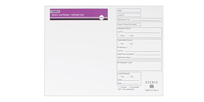 The VERDOC General Load Release Envelope provides the flexibility to document any sterilization process.