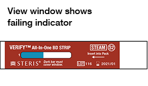 View Window Shows Failing Indicator