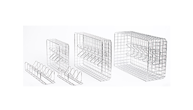 Pouchcare Sterilization Basket and Dividers have several configurations to suit your sterilization pouch needs