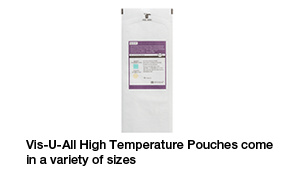 Vis-U-All High Temperature pouches come in a variety of sizes
