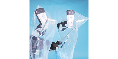 These clear surgical drapes can be used over various medical stirrups.
